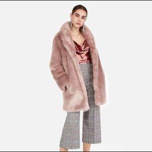 EXPRESS Long Faux Fur Coat